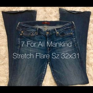 7 For All Mankind • Stretch • Flare • Sz 32x31